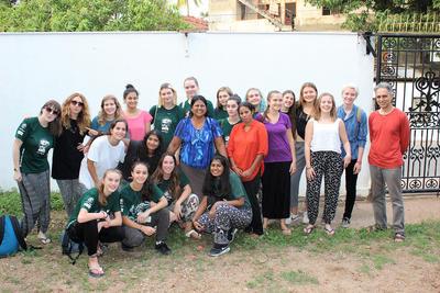 A group of volunteers in Sri Lanka