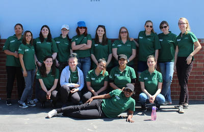 A group photo of the staff in Cape Town
