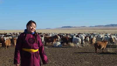 a local Mongolian woman