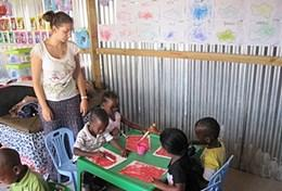 High school volunteer in South Africa: Care