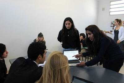 Projects Abroad Human Rights volunteers consult with judges during a mock trial at their placement in Cordoba, Argentina.