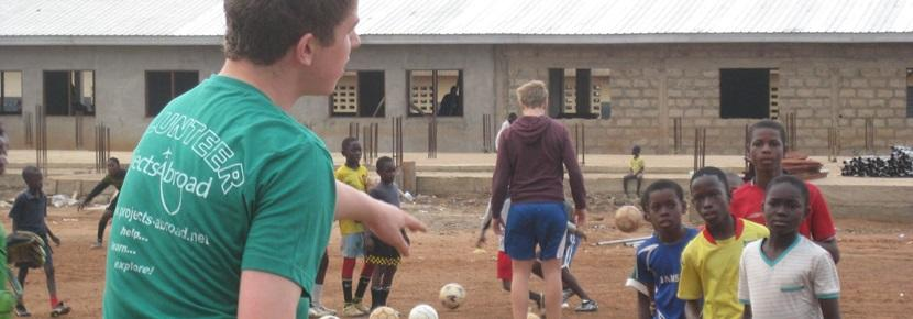 Projects Abroad High School Special volunteers coach children in various sports in developing countries.