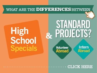 This infographic explains the differences between Projects Abroad High School Specials and Standard Projects.