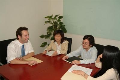 A Law intern in China works closely with local colleagues at a firm in Shanghai, China.