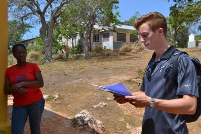 A Projects Abroad Human Rights intern helps start a parenting patrol system in communities in Jamaica.