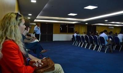 Projects Abroad Human Rights interns attend a conference discussing the death penalty in Morocco.