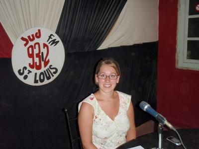 A Projects Abroad Human Rights intern speaks about human rights issues on a radio show in Senegal.