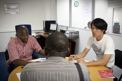 Volunteers work on social justice issues in Cape Town, South Africa
