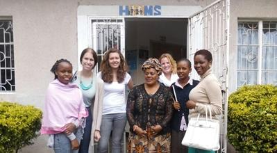 Projects Abroad Human Rights interns and women from the local community in Arusha in Tanzania, Africa.