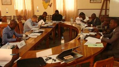 A group pf Projects Abroad Human Rights interns attend a conference in Togo.