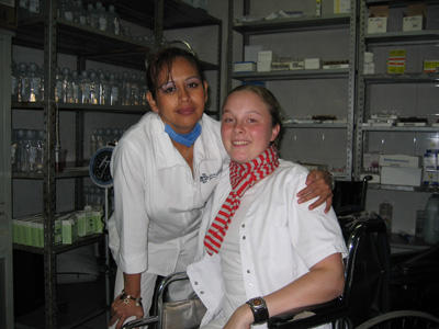 A Nursing Elective student with her supervisor at a hospital in Mexico.
