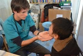 A Nursing School Elective volunteer completes hospital tasks in Mongolia.