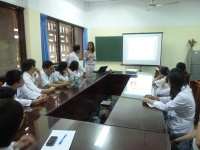 Projects Abroad medical interns attend a presentation at a hospital in Vietnam, Asia.