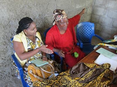 Local women attend an educational workshop given by Projects Abroad Microfinance interns in a developing country.