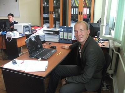 Economist volunteer at the office in Mongolia
