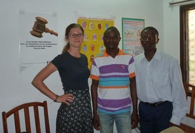 Professional Psychology volunteers working at a clinic in Togo