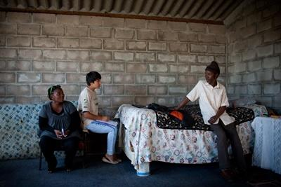 Professional human rights lawyers on site a volunteer project in South Africa