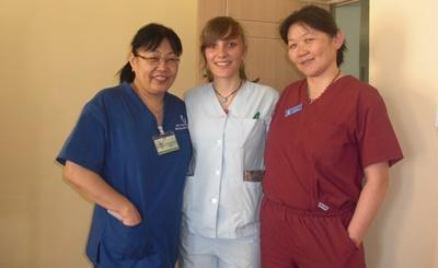 A psychiatrist volunteering in Mongolia at a mental health centre spends time with local colleagues.