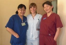 A professional psychiatrist volunteering in Mongolia spends time with local colleagues.