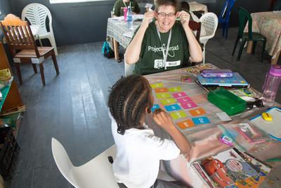 As a professional teacher in Belize you can have one-on-one sessions with local school children