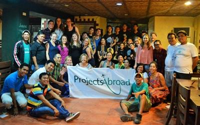 A Projects Abroad group picture in the Philippines, Southeast Asia