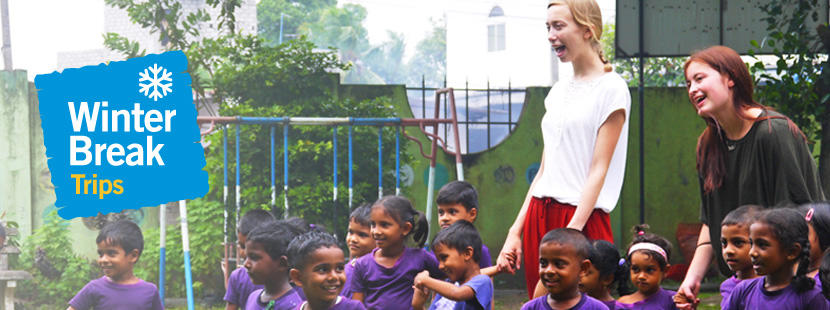 Volunteer group trips to developing countries over winter break