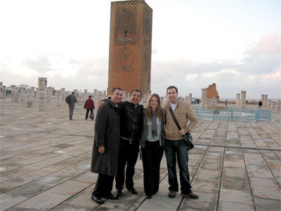 A group of Projects Abroad volunteers explore a city together during their free time.