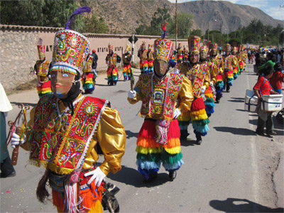 A cultural festival is celebrated by local people in Peru.